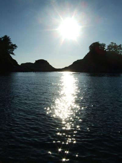 西伊豆・乗浜海岸から見た夕陽①