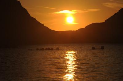 西伊豆・乗浜海岸から見た夕陽②