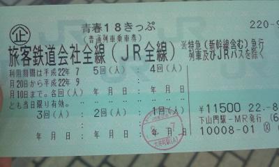 """青春18切符 関東甲信(北) """"の""""の字の旅 静岡"""