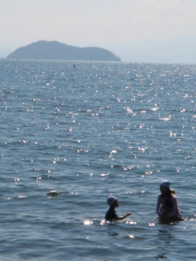 我が家のETC記念旅行(後編)>>琵琶湖のマキノサニービーチで一泊 長浜城と養老の滝