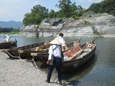 長瀞で川下りと散策