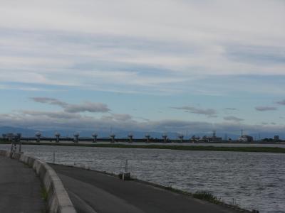揖斐川お散歩~河口堰やらなんやらでお堀の周りをブラブラ~