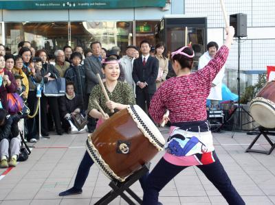 茅ヶ崎駅前新春和太鼓