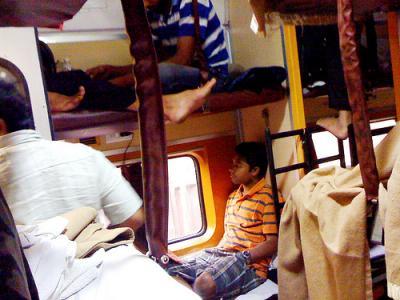 インド旅行記 - 寝台列車で長距離移動