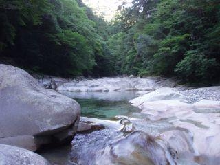夕方の面河渓