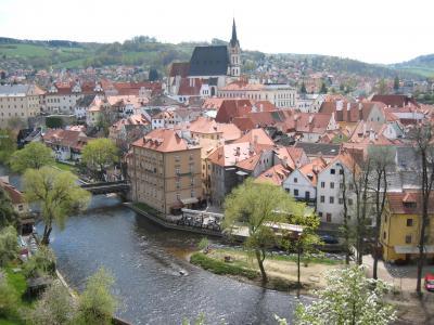 チェコ チェスキークルムロフ 人気の観光地 絵のような世界遺産