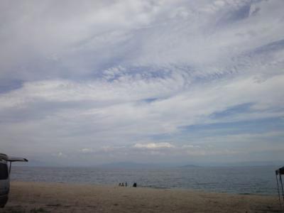 秋の琵琶湖で泳ぎ納め!