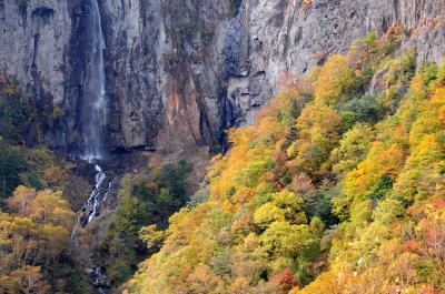 秋色に染まる米子大瀑布