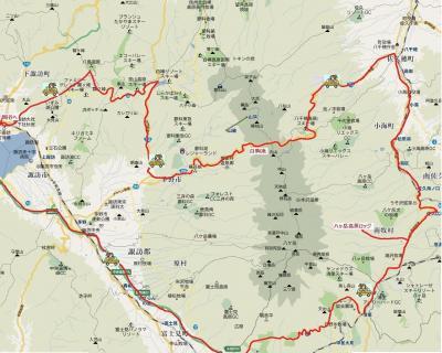 2010年 八ヶ岳から車山高原へ・紅葉