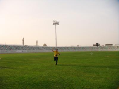 やってきたぜ!! 2008 カタール 『乗り継ぎ待ちでドーハの街へ♪ここかドーハの悲劇の競技場!!』 IN ドーハ