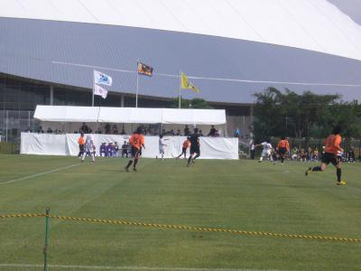 きらら博記念公園で全国社会人サッカー選手権大会を見てきた