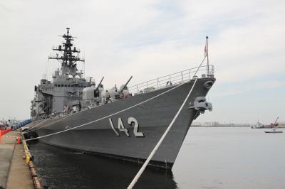 護衛艦ひえい乗船