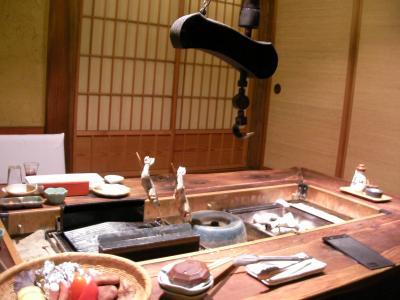 2010秋 温泉旅行 w/犬! その3 薬師温泉でのお食事