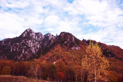 紅葉の通仙峡、百名山みずがき山自然園、益富温泉、バスツアー