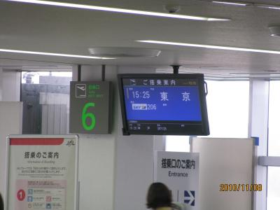 スカイマークで熊本から羽田に戻ってきました。