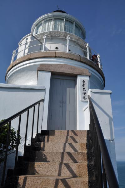 夏休み台湾05★東西引島★青空に映える「東湧燈台」と西引島の夕暮れ