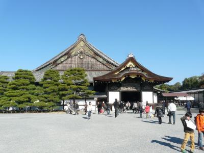 家族に誘われて、燃える京都に『 二条城 』