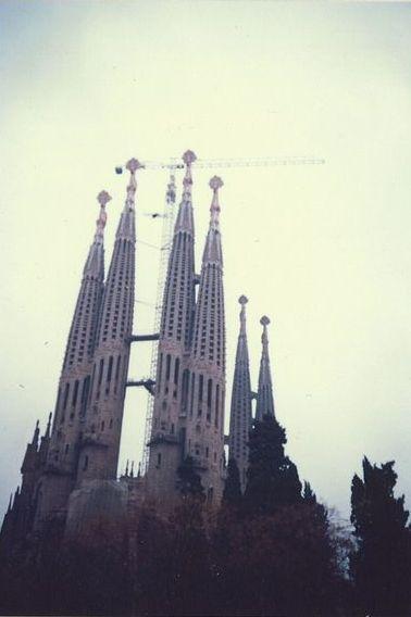 80年代のスペイン1986.2  「卒業旅行でサグラダ・ファミリア」  ~バルセロナ~