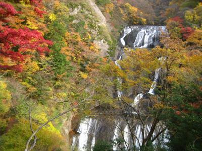 紅葉の時季、袋田の滝