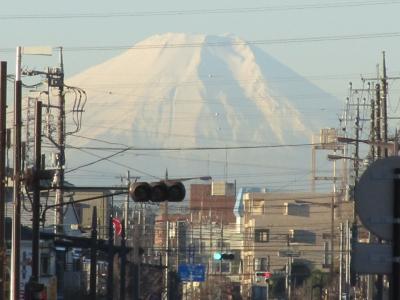 すっきりとした富士山が見られた(上福岡駅にて)
