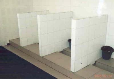 中国の各地・公衆便所・扉がありません・2010年