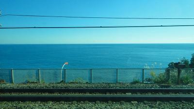 東海道線 熱海駅~早川駅の車窓風景