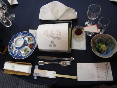 日本海の天守閣岬館で新年会