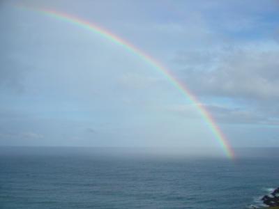 【イースター島/ラパヌイ】虹の付け根を見つけました