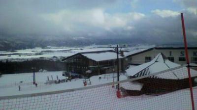 おー寒い!でも、がんばったスキー