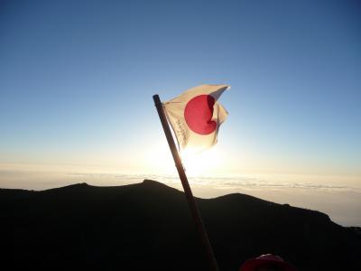 富士山登山(富士宮ルート→【山頂】→富士宮ルート→御殿場ルート→宝永火山→富士宮ルート)