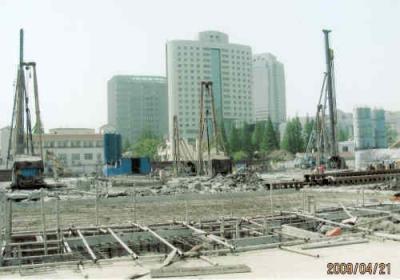 上海の高島屋・工事中・2009年