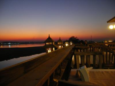 3泊6日ラオス-ビエンチャン メコンの夕日 を見ながら Beer Laoで乾杯