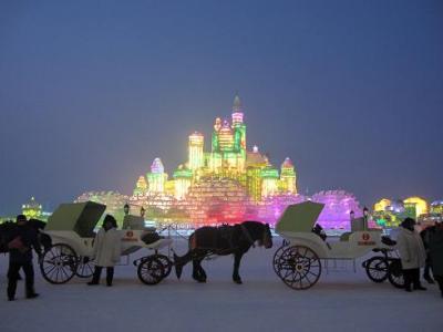 週末ハルビン氷雪祭り:太陽島編