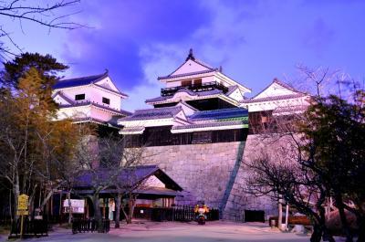城下町松山 (1) 夜の松山城