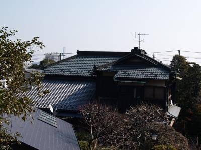 富岡界隈の銅葺き屋根の家
