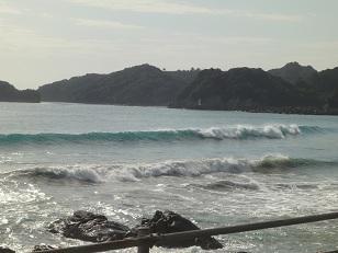 高知県と徳島県の県境あたりで海遊び
