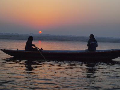 4. インド・ネパール 懐かし旅 バラナシ ガンジス河の夜明け