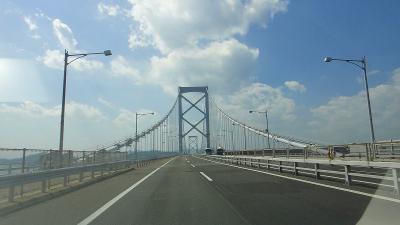 大鳴門橋を走る