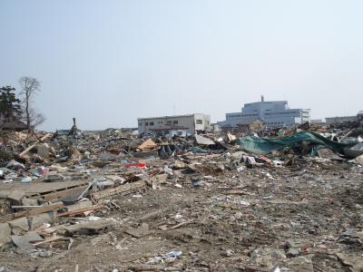 東北地方太平洋沖地震 石巻市内それから20日後
