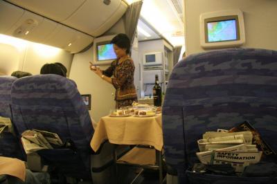 成田線シンガポール航空では初めてのインボラアップグレード