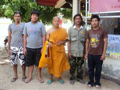 南タイの出家式の様子