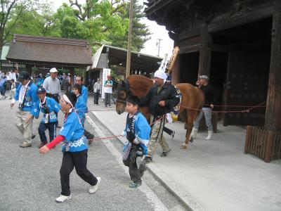ヒヒ~ン!今日は馬まつり♪(梅酒盛神事) ~2011~