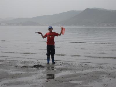 高洲の潮干狩り 2011