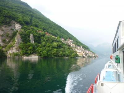 スイスの南国!魅惑のティチーノ旅♪ Vol19(第2日目夕方) ルガノ ☆ガンドリアからルガノへ 船の旅♪
