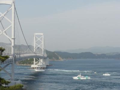 橋を渡って四国へ  渦の道