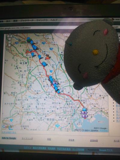 行きは「中山道」、帰りは「荒川自転車道」:東京ー熊谷自転車の旅(その2)