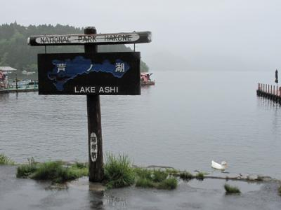 小雨の芦ノ湖