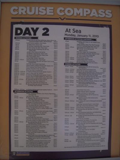 リバティ・オブ・ザ・シーズで行く西カリブ海クルーズ その⑤ 乗船2日目 終日航海