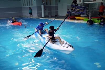 05.SOTカヤック体験講習会@東急ハーヴェストクラブ静波海岸に参加する旅 貸切状態のプール遊び バイキングカヤックの体験試乗
