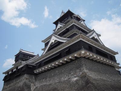 熊本城と馬刺しと肥薩おれんじ鉄道から見た夕日